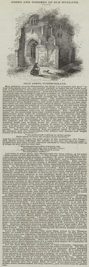 Shap Abbey, Westmoreland--Giclee Print