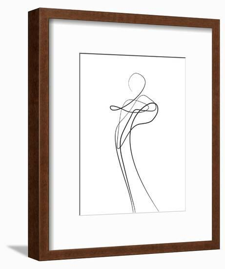 Shape of You 1-Design Fabrikken-Framed Art Print