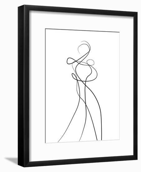 Shape of You 2-Design Fabrikken-Framed Art Print