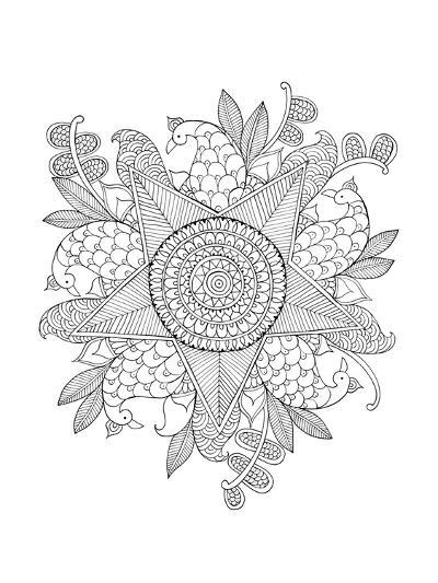 Shape Pattern 10-Neeti Goswami-Art Print