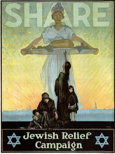 Share - Jewish Relief Campaign, 1917--Giclee Print