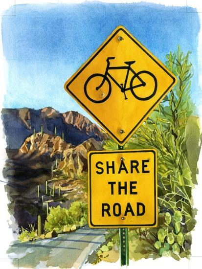 Share the Road, Gates Pass, 2004-Lucy Masterman-Giclee Print