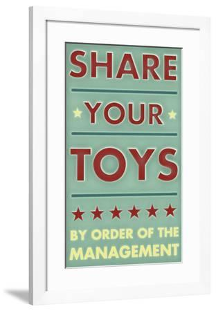 Share Your Toys-John W. Golden-Framed Art Print