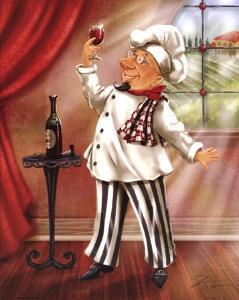 Chefs With Wine IV by Shari Warren