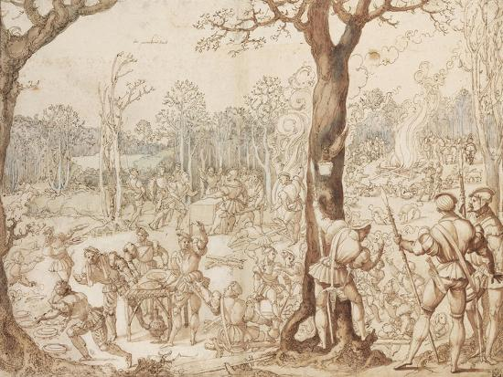 Sharing Out the Game, 1525-1535-Bernaert Van Orley-Giclee Print