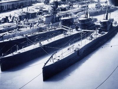 Shark-Class Submarines in Monfalcone Shipyards, 1929, Italy--Giclee Print