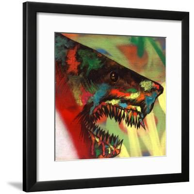 Shark Head Study 1-Shark Toof-Framed Premium Giclee Print
