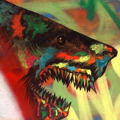 Shark Head Study 1-Shark Toof-Art Print