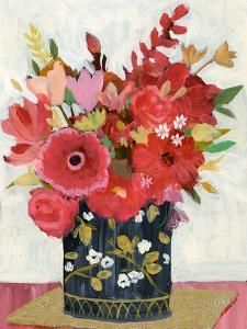 Asian Floral Gold Mat by Sharon Montgomery