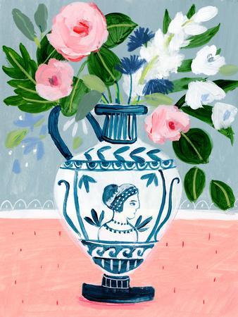Mykonos Urn Bouquet Blue
