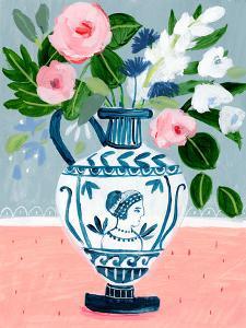 Mykonos Urn Bouquet Blue by Sharon Montgomery