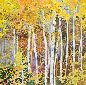 Autumn Birches III by Sharon Pitts