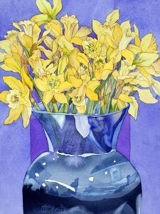 Daffodils in Cobalt by Sharon Pitts