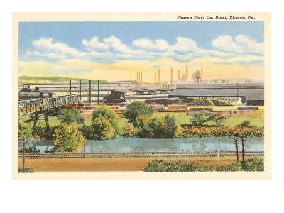 Sharon Steel Plant, Sharon, Pennsylvania--Art Print