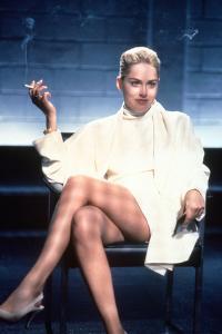 "SHARON STONE. ""Basic Instinct"" [1992], directed by PAUL VERHOEVEN."