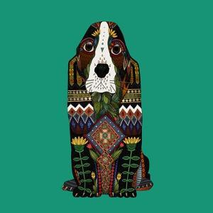 Basset Hound Jade by Sharon Turner