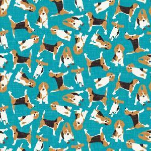 Beagle Scatter (Variant 1) by Sharon Turner