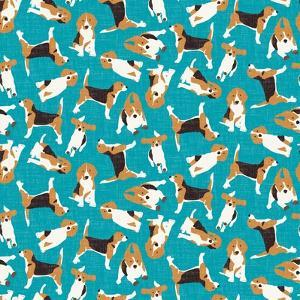 Beagle Scatter (Variant 1) by Sharon Turner