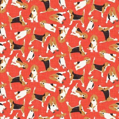 Beagle Scatter (Variant 2) by Sharon Turner
