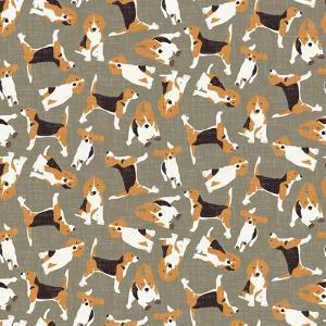 Beagle Scatter (Variant 4) by Sharon Turner