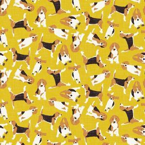 Beagle Scatter Yellow by Sharon Turner