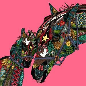 Horse Love Pink by Sharon Turner