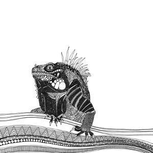 Iguana (Variant 1) by Sharon Turner
