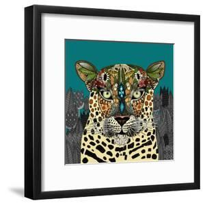 Leopard Queen Teal by Sharon Turner