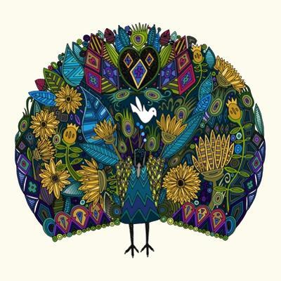 Peacock Garden by Sharon Turner