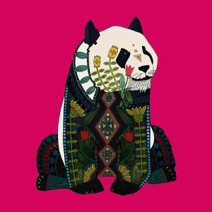 Sitting Panda (Variant 2) by Sharon Turner