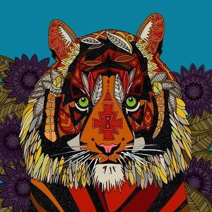 Tiger Chief Blue by Sharon Turner