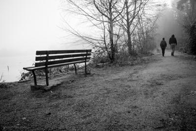 Couple Walking on Path Beside Lake