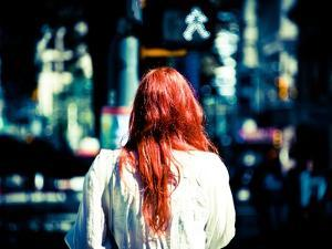 Red Hair and Bokeh by Sharon Wish