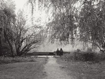 Two People on a Park Bench