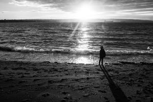 Young Child Alone on Beach by Sharon Wish