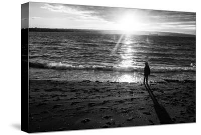 Young Child Alone on Beach