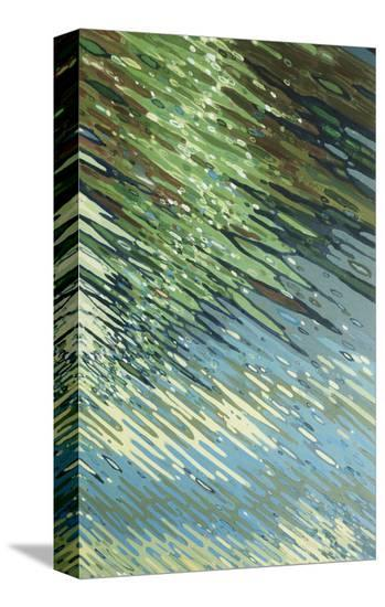 Sharp Ripples-Margaret Juul-Stretched Canvas Print