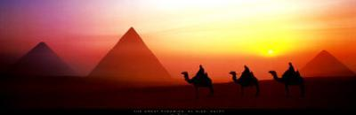 The Great Pyramids, El Giza, Egypt by Shashin Koubou