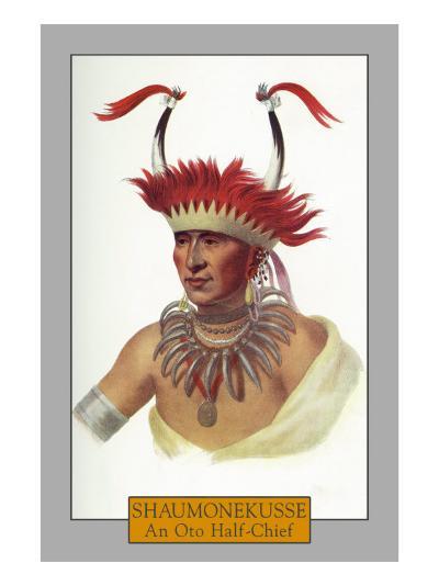 Shaumonekusse - Portrait of an Oto Half-Chief, c.1844-Lantern Press-Art Print