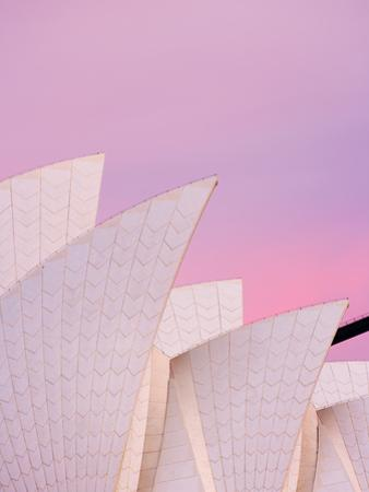 Australia, New South Wales, Sydney, Sydney Opera House, Close-Up of Opera House at Dawn by Shaun Egan
