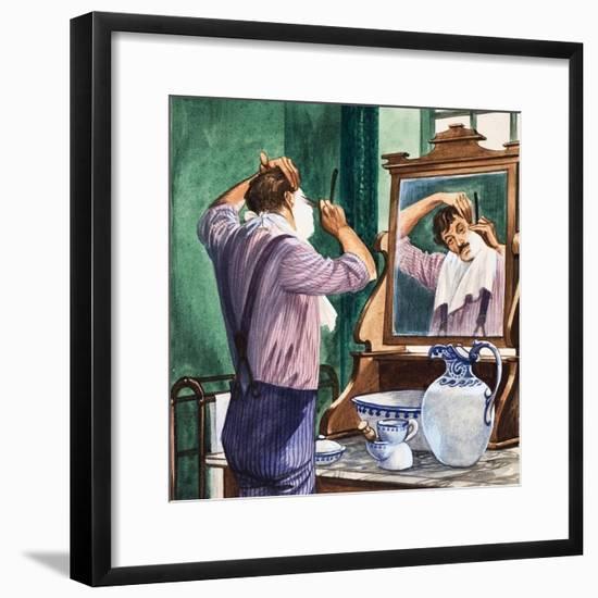 Shaving-Peter Jackson-Framed Premium Giclee Print