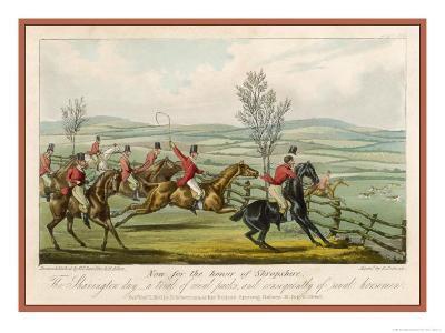 Shavington Day a Trial Between Rival Packs and Horsemen-Edward Duncan-Giclee Print