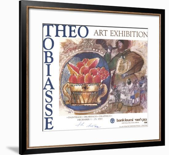 Shavuot: Plate IV (With Border)-Theo Tobiasse-Framed Premium Edition