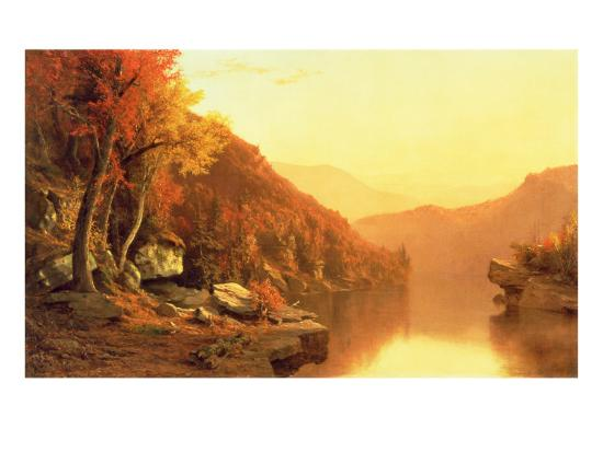 Shawanagunk Mountains, Autumn, 1863- McEntee-Giclee Print