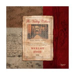 Merlot Wine Label by Shawnda Craig