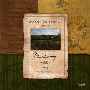 Chardonnay Wine Label by Shawnda Eva