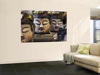 Buddha Head Statues in Usuki