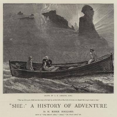 She, a History of Adventure-Edward Killingworth Johnson-Giclee Print