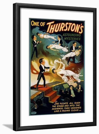 She Floats All over the Stage, Howard Thurston--Framed Giclee Print