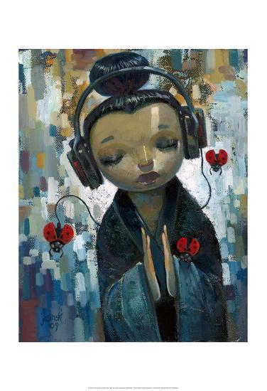 She Had her Sources-Aaron Jasinski-Art Print